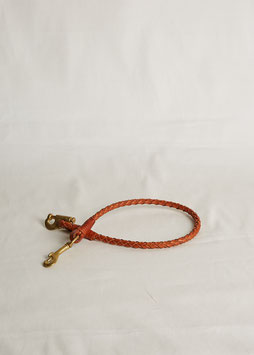 LANYARD WITH 2 DIFFERENT CARABINER MA412 / 66 cm / full grain vegetable tanned leather