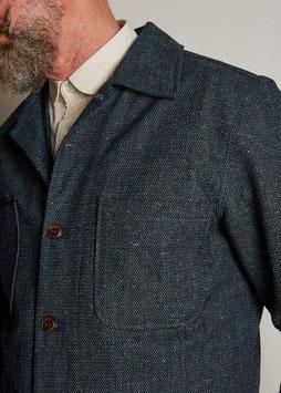 DARWIN MJ100 / Worker Jacket / 11 oz cotton-wool dobby