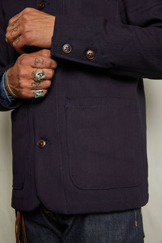 DARWIN MJ100 / Worker Jacket / 100% cotton 11 oz / Indigo overdyed bedford