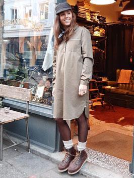 BRUNA D901 / Shirt Dress // 100% cotton, 7oz selvedge / Olive
