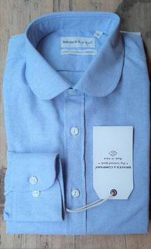 AESOP MS503 / Classic club collar / 7 oz, 100% cotton, Oxford, Light Blue