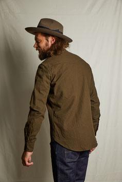 DEAN MS501 / Western shirt / 9.25 oz, 100 % cotton Twill, Olive green