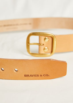 BELT MA400/ 40mm / full grain vegetable tanned leather