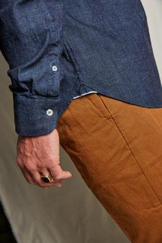 DEAN MS501 / Western shirt /8.3 oz selvedge, 100% cotton, Blue-Grey