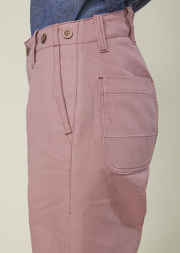 HOLIDAY FP003 / Straight Worker Pants / 9 oz Dry Twill Dusty Rose