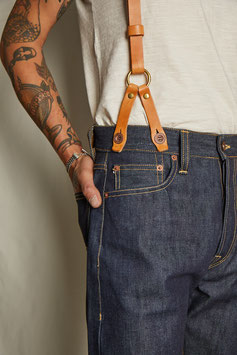 SUSPENDERS MA402 / full grain vegetable tanned leather