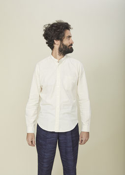 MARLON MS502 / Stand collar / 1 pocket / 4,75 oz, 100% Cotton Panama, Natural Ecru