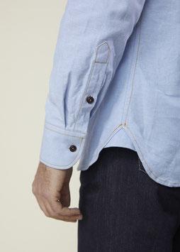 DEAN MS501 / Western shirt / 7 oz, 100 % cotton steady oxford,  Light Blue