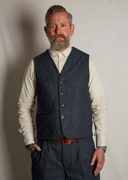 CONSTANTINE MV201 / Worker Vest / 11 oz cotton-wool dobby