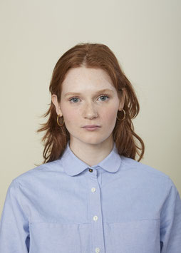 LUCY FS501 / Relaxed - round collar / 7 oz, 100% Cotton Oxford, Light Blue