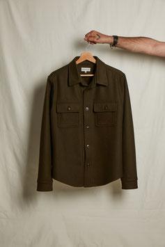 WAYNE MS508 / Worker 2 flap pockets /  100% Virgin Wool Loden, 450gr / Olive