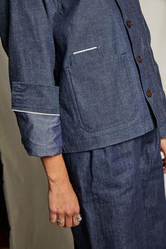 JANIS FJ100 / Worker jacket / Selvedge indigo heavy oxford