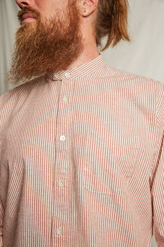 MARLON MS502 / Stand collar / 1 pocket /  135gr, 100%cotton, Red Pinstripes