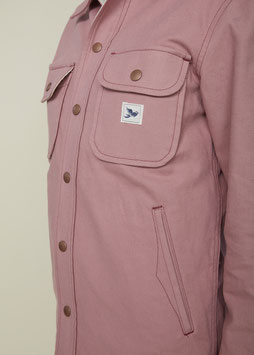 DELIAH FS503 / Relaxed Worker Overshirt / 9 oz, 100% Cotton Vintage Rose Dry Twill