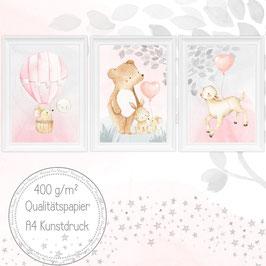 Baby & Kinderzimmer Bilder 3er Set (38)
