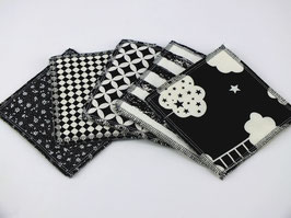"Lot de lingettes lavables "" Black & White"""