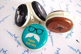 Case für Kopfhörer Mustache