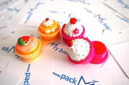 Kontaktlinsen Behälter - Cupcake & Mustache