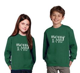 Kerst trui kind > Merry X-mas