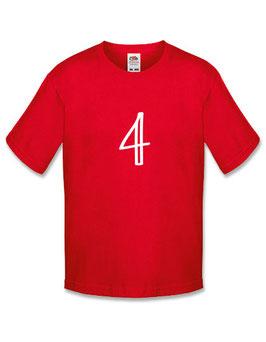 Jongens T-shirt '4 jaar'