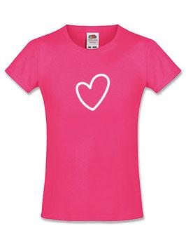 Meisjes T-shirt 'hart'