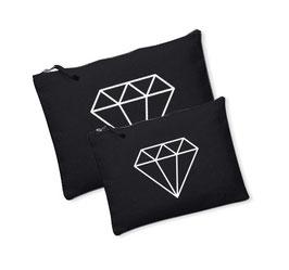 Canvas tasje/Luier etui Diamant