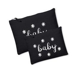 Canvas tasje/Luier etui Baby sterretjes