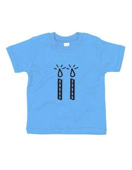 Baby T-shirt '2 kaarsjes'