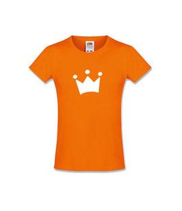 Koningsdag kinder T-shirt met icoon 'kroon'