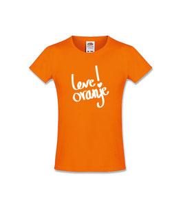 Koningsdag kinder T-shirt 'Leve Oranje!'