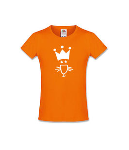 Koningsdag kinder T-shirt met icoon 'leeuw'