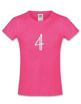 Meisjes T-shirt 'vier'