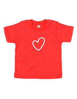 Baby T-shirt 'hart'