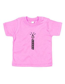 Baby T-shirt '1 kaarsje'