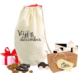 Sinterklaas cadeauzak 'Vijf december'