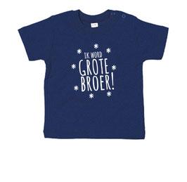 Ik word grote broer - sterren T-shirt