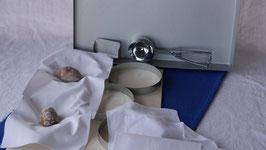 7433  Vinschgel-Edelstahlring-Komplettset Tuch für 1 Blech mit Arbeitswanne