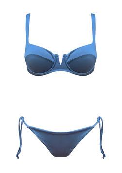 RIVIERA TWO PIECE LIGHT BLUE SHINY