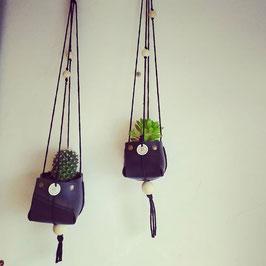 Mini cache-pot suspendu Black