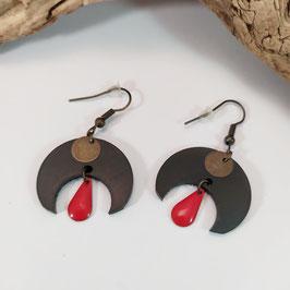 Boucles d'oreilles Lunaïg bronze