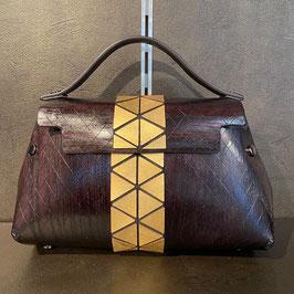 Fuscra Tasche braun-gold Gr. S