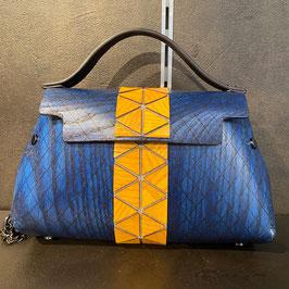 Fuscra Tasche blau-gelb/Natur