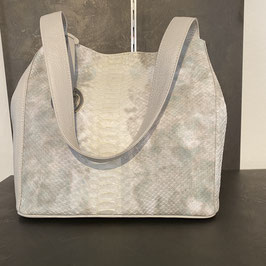 Bellissima Tasche weiß-grau-mehrfarbig