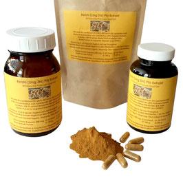 Vegane Kapseln Reishi Pilz Ling Zhi hochdosiert 4 : 1  Pulver Extrakt in Rohkost Qualität 500 mg frei von Zusatzstoffen - Made in Germany