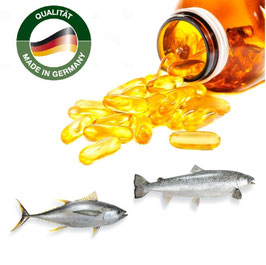 Omega 3 Fischöl Lachsöl Kapseln  1000 mg - Made in Germany