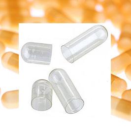 Gelatine Fix Leerkapseln Größe 00 aus  100 % reiner Rindergelatine in hochwertiger Arzneibuch Qualität. Ober- und Unterteile getrennt verpackt.  Kosher & Halal zertfiziert
