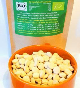 Bio Maca Tabletten Rohkost Qualität aus Peru  keine Zusatzstoffe  400 mg