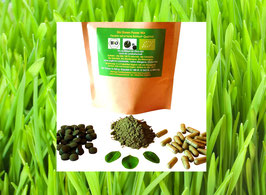 Bio Green Vital Mix Pulver 100 % naturrein jeweils 25 % von jedem Bio Green Superfood