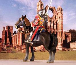 R18. Französischer Ritter zu Fuß / Ritter des Mittelalters Ritterfigur Kreuzritter Altaya DeAgostini Frontline