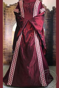 Mittelalterkleid Mittelaltergewand aus Baumwolle und Taft